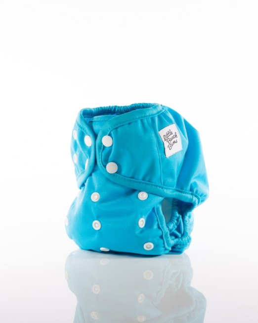 cloth nappy cover - blue