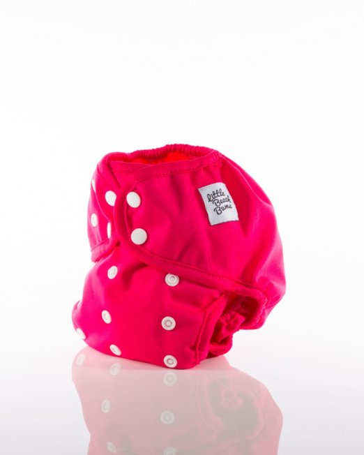 hot pink cloth nappy cover