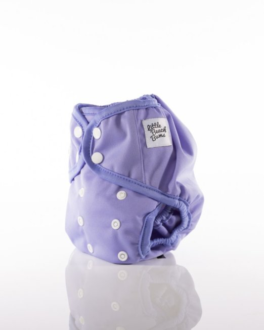 purple cloth nappy cover