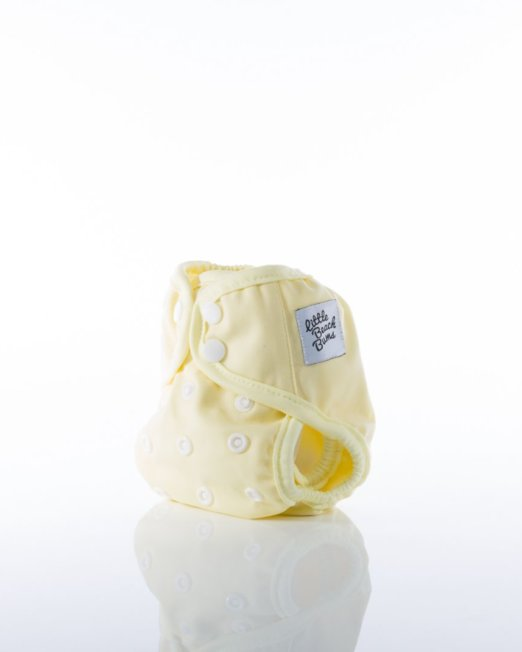 newborn nappy cover lemon colour