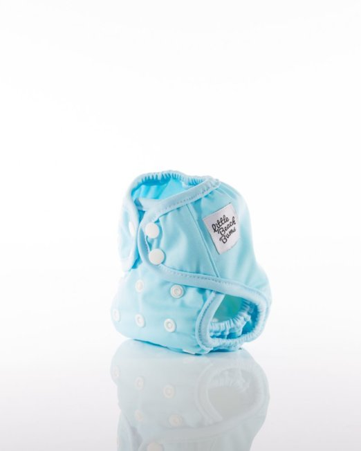 pale blue newborn nappy cover
